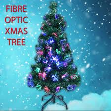 CHRISTMAS 7FT FIBRE OPTIC XMAS TREE LIGHTS PRE LIT MULTI COLOUR