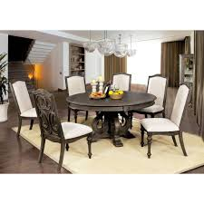 Best Online 7pc Darja Round Dining Table Set Brown Homes ... Cm3556 Round Top Solid Wood With Mirror Ding Table Set Espresso Homy Living Merced Natural Wood Finish 5 Piece East West Fniture Antique Pedestal Plainville Microfiber Seat Chairs Charrell Homey Design Hd8089 5pc Brnan Single Barzini And Black Leatherette Chair Coaster 105061 Circular Room At Hotel Hershey Herbaugesacorg Brera Round Ding Table Nottingham Rustic Solid Paula Deen Home W 4 Splat Back Modern And Cozy Elegant Sets