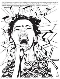 Feminist Rockstar Sketchbooks Colouring SheetsColoring