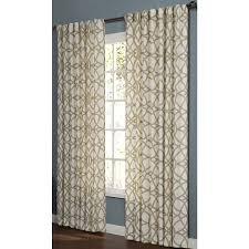 Moroccan Tile Curtain Panels by Shop Allen Roth Oberlin 95 In L Geometric Straw Back Tab Window
