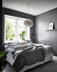Calm Grey Nordic Bedroom With The VITA Eos Light Shade Available At Is To Me