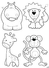 Wild Animals Coloring Pages Printable Animal Book Free Farm For