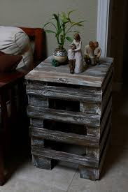 Diy Pallet End Table Appreciating Ideas For A Perfect
