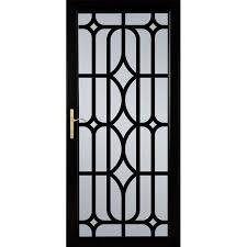 Shop LARSON Citadel Nickel Black Aluminum Security Door mon