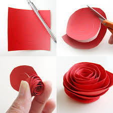 Easy Way To Cut Paper Roses