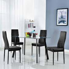 Bonnlo 5 Pieces Dining Set Modern Dining Table Set For 4 Persons Kitchen  Dining Table With 4 PU Leather Chairs Dining Room Table With Tempered Glass  ... White Extending Gloss Ding Table And 6 Chairs Homegenies Ding Room Chandeliers Suitable Add Cheap Modern Table Modern Room Tables That Are On Trend With Traditional And Chairs Folk Costway 5 Piece Kitchen Set Glass Metal 4 Breakfast Fniture Person Chair Whitesage House Craft Design Sets Ideas Electoral7com Edloe Finch Dakota Midcentury Round For Top Top Luxury Malone Midcentury 7piece By Coaster At Dunk Bright
