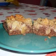 schneller apfel schokoladen mandelkuchen