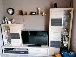 wohnzimmer schrank tv wand eiche sonoma braun