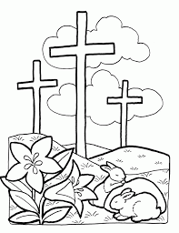 Religious Easter Coloring Pages Cross 247845
