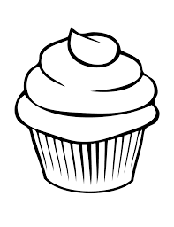 Cute black and white muffin clipart Cupcake Outline Cliparts Co