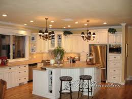 kitchen white cabinet recessed lighting and pendant home