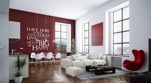 mit farben einrichten wohnzimmer und küche in weiß und rot