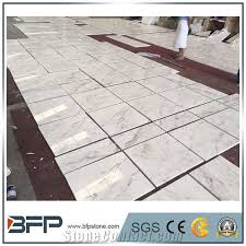 high level volakas marble white polished marble flooring tile for