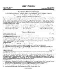 Operations Manager Resume Example Rh Resource Com Executive Examples Director Sample