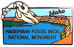 hagerman fossil beds national monument lapel pin in the discover