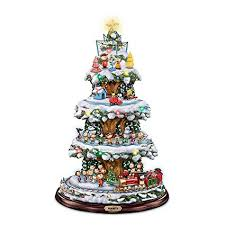 Bradford Exchange A Peanuts Christmas Tabletop Tree With Lights Music And Motion
