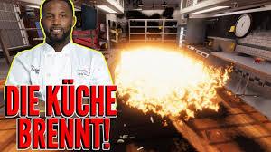 koch simulator die küche brennt