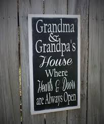 Grandparents Sign Mothers Day Gift Wood Wooden For Mom Word Art Chic Rustic
