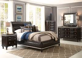 hefner espresso 5 pc queen bedroom badcock home furniture more