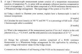 2 a type j thermocouple measurement system consis chegg