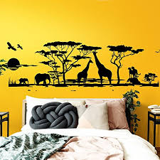 wandsticker sticker aufkleber set für wohnzimmer afrika