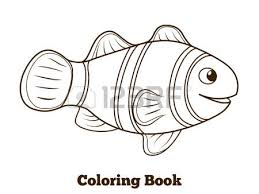 Game Fish Coloring Book Clownfish Cartoon Colorful Vector Educational Illustration