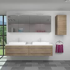 badmöbel set city 201 v2 eiche braun badezimmermöbel waschtisch 200 cm ja mit 2x 5w led