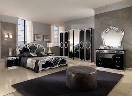 bedroom beautiful gothic bedroom design with silver and black bed