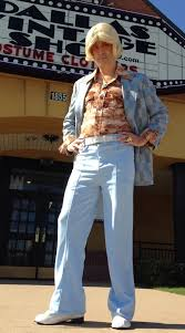 Disco Dad Costume LAKEWOOD Elementary Auction Party 70s Vintage Clothing Area Dallas Theme Costumes Accessories