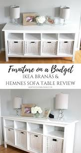 Ikea Lack Sofa Table Colors by Furniture On A Budget Ikea Branäs And Hemnes Sofa Table Review