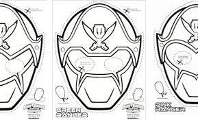 New SUPER MEGA Power Rangers Printable Coloring Masks