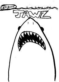 Jaws Movie Colouring Page Jaws Movie Colouring Page Colouring Tube
