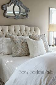 Pottery Barn Master Bedroom by Savvy Southern Style Winter White Bedroom