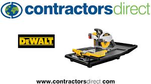 Dewalt Tile Cutter D24000 by The Dewalt D24000 Wet Tile Saw From Contractors Direct Youtube