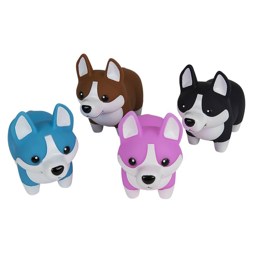 "Adventure Planet 5.5"" Rubber Corgi with Sound Assorted Styles"
