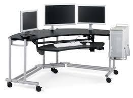Black Glass Corner Computer Desk by Furniture Light Grey Iron Computer Desk Gaming Office Workspace