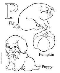 Free Alphabet Coloring Sheet