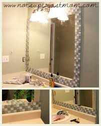 Regrouting Bathroom Tile Do It Yourself by Do It Herself How To Mosaic Tile A Mirror Caffeine And Cabernet