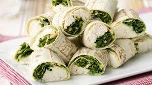 hähnchen wraps mit rucola