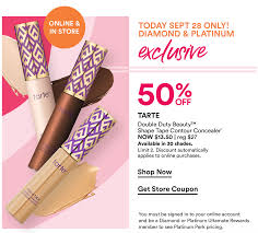 Ulta Platinum/Diamond Perk: 50% Off Tarte Shape Tape + Get A ... Who Sells Tarte Cosmetics Nisen Sushi Commack Sephora Black Friday 2019 Ad Deals And Sales Boxycharm Coupons Hello Subscription Where Can You Buy How To Get Printable Coupons Tarte Cosmetics Canada Friends Family Event Continues Birchbox Coupon Codes Stacking Hack Ads Doorbusters 2018 Buffalo Bills Casino Coupon Codes White Barn 10 Off Code For Muaontcheap Code Promo Photomagnetfr First Time Roadie Paleoethics Manufacturer From California