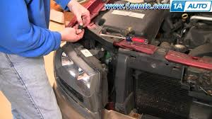 how to install repair replace headlight assembly chevy trailblazer