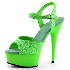 amazon com bright and bold lime green heels with sparkling