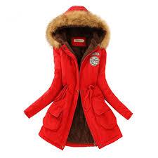 aro lora women u0027s faux fur hooded cotton padded parka long jacket