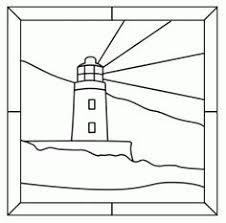 Stain Glass Light House Lets Print It For A Coloring Page
