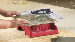 cut tile with a saw