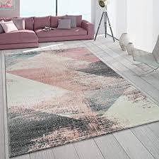 de paco home teppich wohnzimmer grau weiß rosa