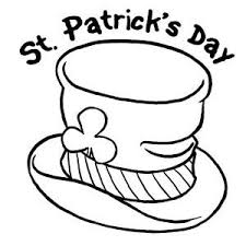 St Patricks Day And Leprechauns Hat Coloring Page
