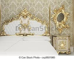 chambre royal intérieur suite baroque royal chambre à coucher illustration
