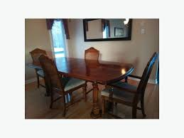 Dining Room Set Including A Table 40 X 84 With Two Extensions Four Chairs And Buffet In Very Good Condition Has To Go