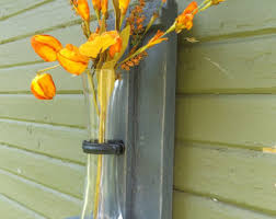 Wall Vase Sconce Rustic Wood Flower